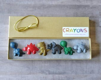 Dinosaur crayons - dinosaur birthday - kids party favors - kids birthday gift - dinosaur party favors - gifts under 10 - gift for kid