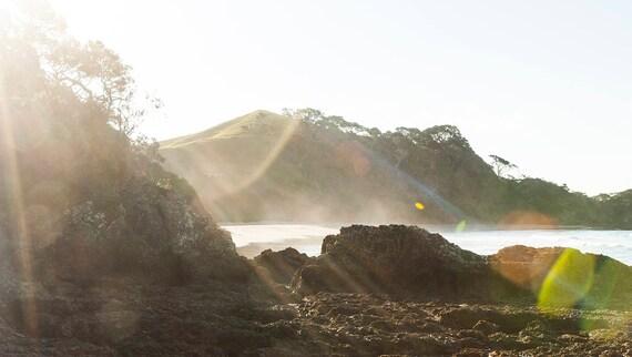 MAGIC BEACH.  Landscape Print, Beach Print,New Zealand, Travel Photography, Photographic Print