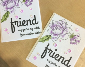 Handmade Card, Stamped Card, Friendship Card, Altenew Card, Floral Card, Peony Bouquet Card, SOA Card