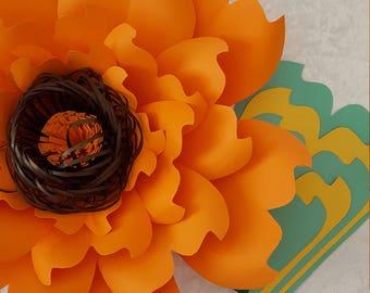 Paper Flower Template   PDF digital file #23
