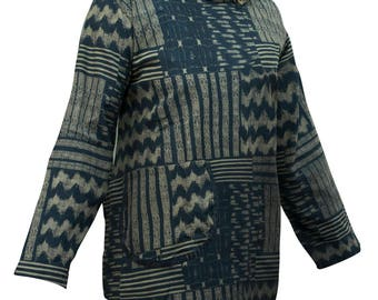 Jumper black printed pullover cotton
