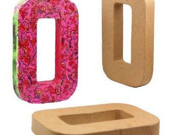 3D Papier Mache Designs/Paper Shapes 8.25 inch, 21cm Capital Alphabet Letters, 1 inch/2.7cm thick freestanding art to decorate