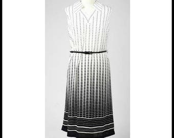 Check-mate Black and White Dress