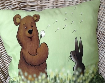 Cute pillow with bear and Bunny