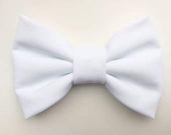BIG Waterproof White Bow, baby hair clips, baby headbands, hair bows, white bows, baby girl, girl toddler