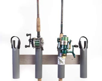 Fishing Rod Pole  Rack Holders-4 Rods - Heavy Duty Plastic Composite won't rust! T-Rex Tough!  Stand alone features! Made in USA