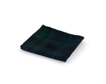 Pocketsquare, tartan, scottish, outlander style, gift idea, for men, men's gift, original gift, pocketsquares, wooden box, valentin