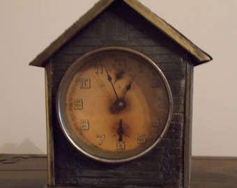 Junghans Mantel Alarm Clock 1898! Bird House, Rare!!!!