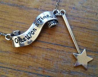 """Fairy tale """"Once upon a time"""" necklace"""