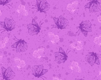 Purple Passion 4105-61353-3 Purple Butterflies from Exclusively Quilters