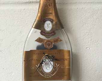 Cristal 2002 champagne bottle clock