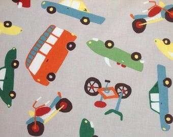Riley Blake Fabric  - Wheels 2 - Pattern C5040 - Cars/Trucks - Cotton fabric by the yard  (last yd)