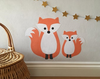 Fox Wall Stickers - Fox Decals - Fox - Fox Wall Art - Fox Nursery - Fox Decoration - Fox Wall Sticker - Fox Decal - Fox Room - Woodland