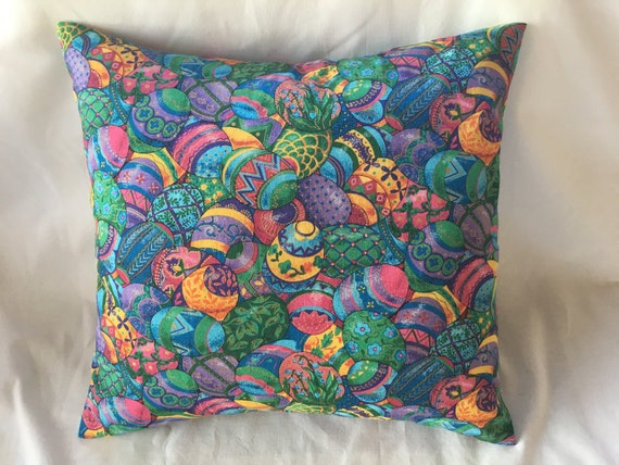 Easter Throw Pillow Covers : Items similar to Easter Throw Pillow Cover - Colorfully Elegant Eggs - Interchangeable (Pillow ...