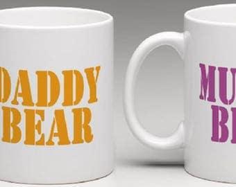 Daddy Bear and Mummy Bear Two mug set - Novelty Mug