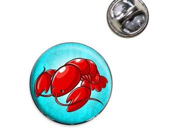 Little Lobster Lapel Hat Tie Pin Tack