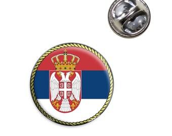 Flag Of Serbia Lapel Hat Tie Pin Tack
