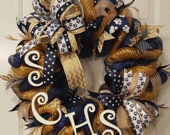 School wreath, team wreath, collegiate wreath, high school wreath