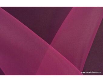Organza polyester fuchsia for wedding x50cm dress
