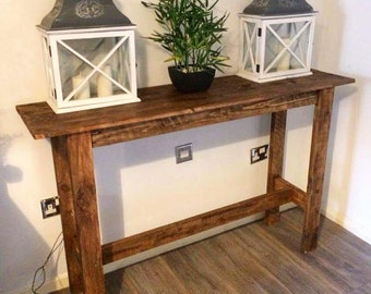 pallet side table, side table, console table, pallet console table, hall table, pallet hall table, wood side table, rustic console table