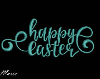 E003 Happy easter - Lettering Machine Embroidery Design