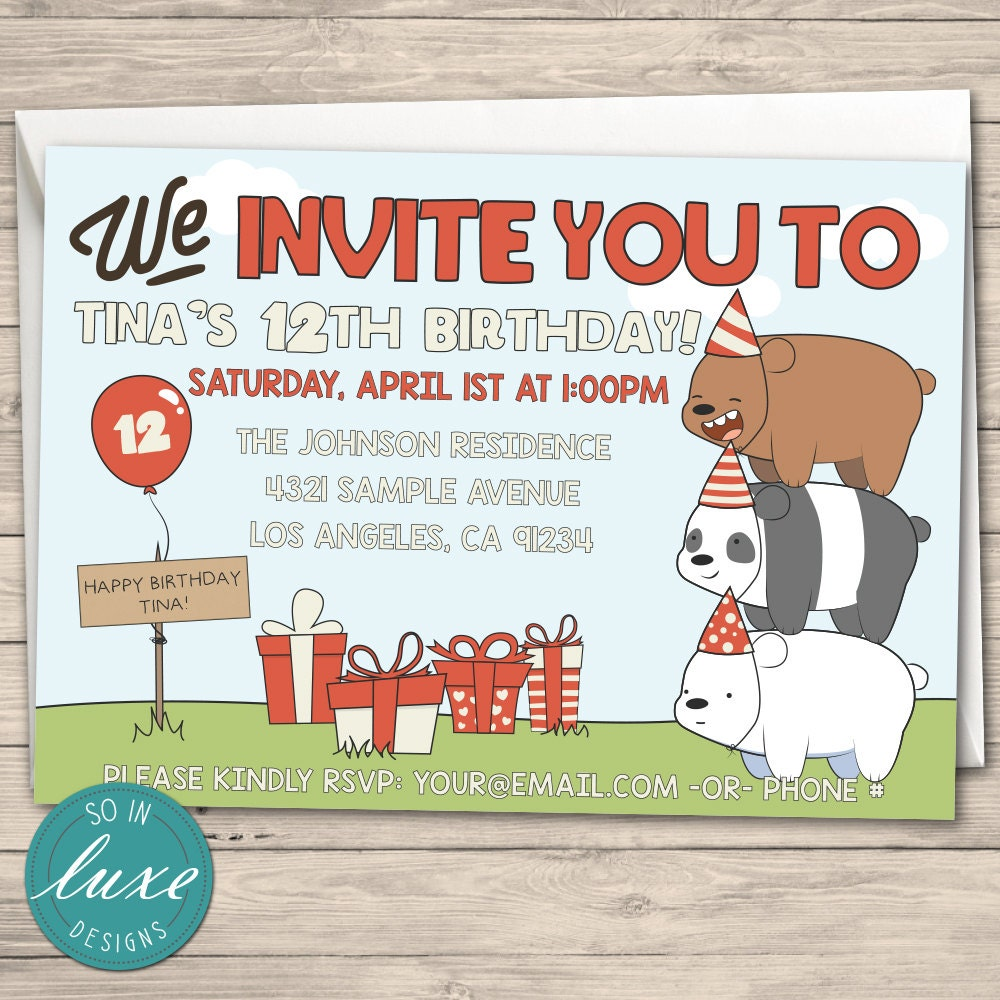 Bear Party Invitations Gallery - Party Invitations Ideas