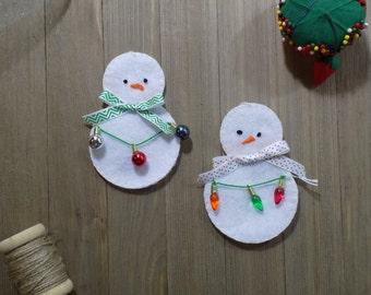 Hand Sewn Christmas Snowman Ornament