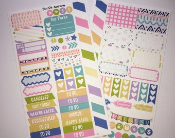 Pastel Spring MM Stickers Louis Vuitton Mambi Inkwell Press Filofax Kikki K Happy Life Planner LV pink glitter