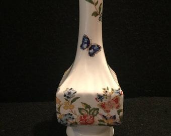 """reserved for JD Vintage Aynsley """"Cottage Garden"""" Bud Vase, circa 1980's"""