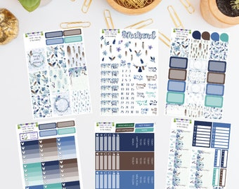 WK33 - Find Joy In The Ordinary Weekly Planner Sticker Kit - Watercolour - Feathers - Floral