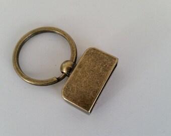 5 Piece Set Screw in 1 inch keychains antique gold Key fob hardware sets designer key chain hardware Gunmetal keychains with screws