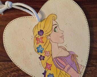 Rapunzel Woodburned Plaque