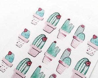 Cactus Kit   Decor  Stickers