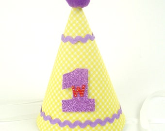 1st Birthday hat baby Yellow Hat cake smash Boys first birthday hat Babes gift Hat personalization Dainty couture hat Outfit Easter baby