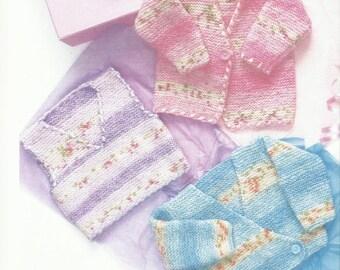 Beautiful Babies Jacket and Tank Top  Knitting Pattern 3 - 18 months.