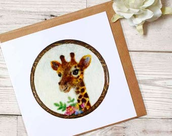 Giraffe Greeting Card, Giraffe Blank Card, Giraffe Birthday Card, Giraffe Thank You Card, Giraffe Lover Gift, Giraffe Card, Free UK Shipping