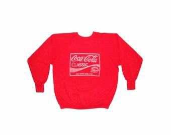 Vintage Coca Cola Raglan Sweatshirt/ 70s 80s Crewneck
