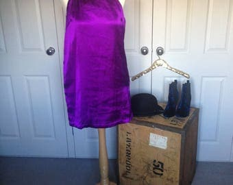Handmade vintage Purple Silk Dress Summer Wedding,Party,Races elegant bold bright holiday