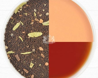 India's Original Masala Chai Tea Leaves - Ancient Indian House Recipe - Assam CTC Black Tea blended Direct from India