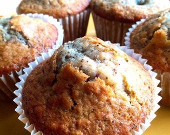 Jumbo Blackberry Lemon Poppyseed Muffins