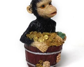 Monkey in a Bucket of Money Bank