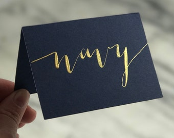 """NAVY / """"night"""" place cards 