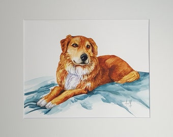 Custom Pet Portrait and Illustrations by Request of 1 Subject - Full Body.