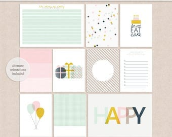 Happy Birthday - Project Life - Journal Cards