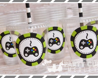 Video Gamer Birthday Party Favor Stickers