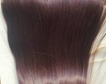 """Indian Remy hair,22"""",Off black,Natural color,Clip in extensions,Long hair"""