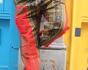 African Trousers - Allagi Trousers - Dashiki Trousers - Festival trousers - Wax Print trousers
