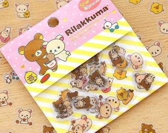 Kawaii Stickers / Rilakkuma / Stationery / Japanese Stationery / Cute Stickers / San X / Calendar Stickers / Scrapbooking / Flake Stickers
