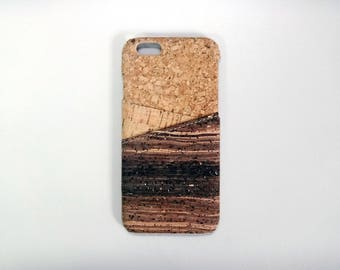 Mixed Cork iPhone 7 and iPhone 7 Plus iPhone 6S Samsung Galaxy S8 case 2 Cards Cork case phone case cover card slots card holder