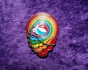 Dead Head Spun Your Face Hat Pin